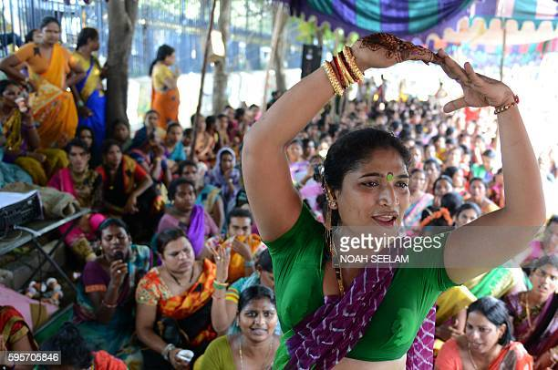Indian transgender activists take part in a protest against the Trangenders Persons Bill 2016 at Dharna Chowk in Hyderabad on August 26 2016 The...