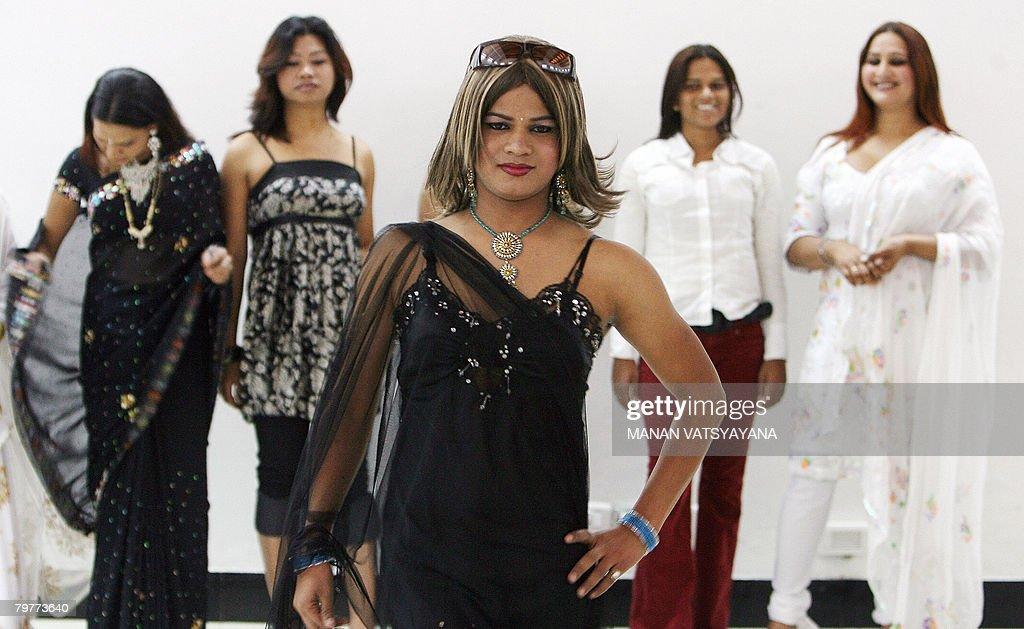Indian transgenders take part in an audition in New Delhi on