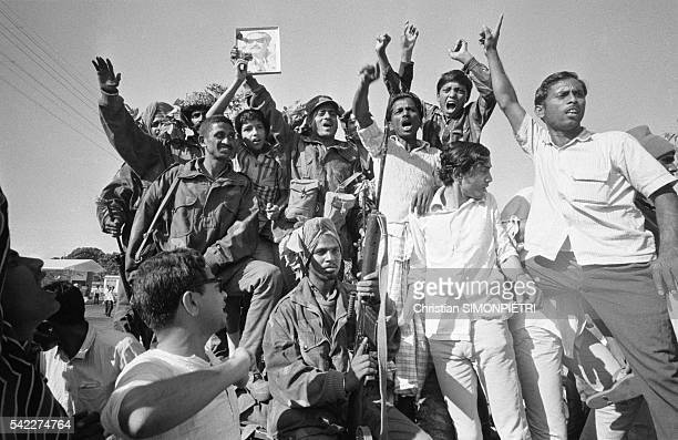 Indian troops enter Dhaka where they were hailed as victors by the Bengali populace during the war for Bangladeshi independence