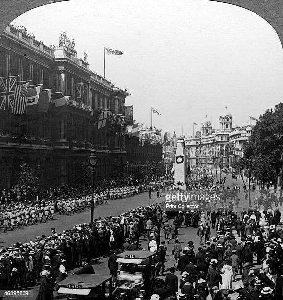 Indian troops saluting the Unknown Warrior at the Cenotaph Whitehall London c1920 The Cenotaph was designed by Edwin Lutyens as the national memorial...