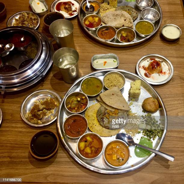 indian veg thali - udaipur stock pictures, royalty-free photos & images