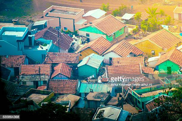 Indian village aerial image