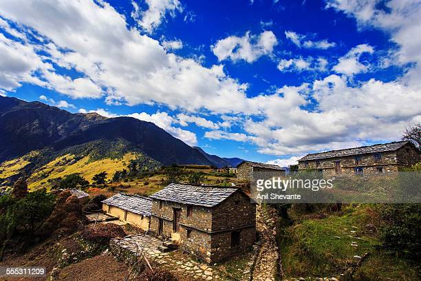 indian village - uttarakhand stock pictures, royalty-free photos & images