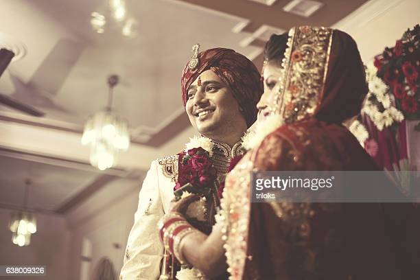 indian wedding ceremony - wedding ceremony stock photos and pictures