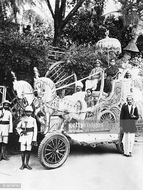 Indian Wedding Chariot A Ford Car is transformed into a festive bridal chariot Deccan India Photograph ca 1925