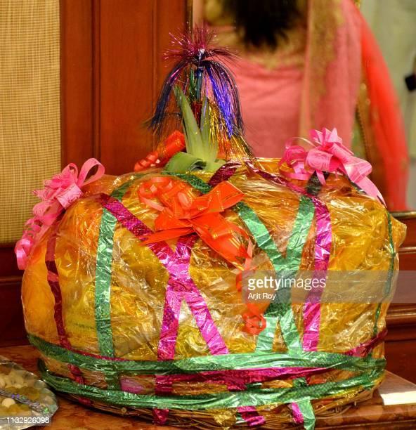 indian wedding gifts fruit bucket