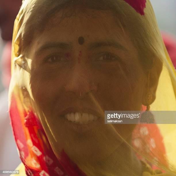 Indian woman behind veil