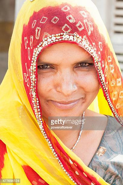 Indian Woman in Salapura Village, Rajasthan, India