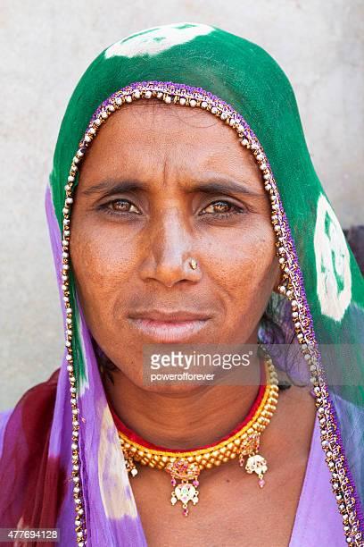 Indian Woman in Salapura Village, Rajasthan, India