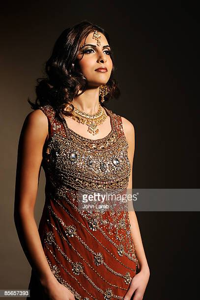 Indian woman in traditional dress.