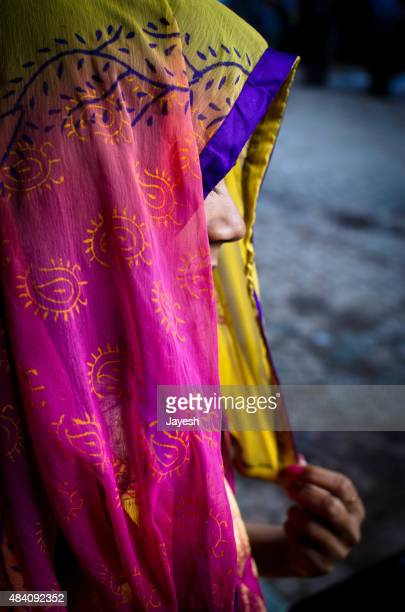 Indian Woman In Veil