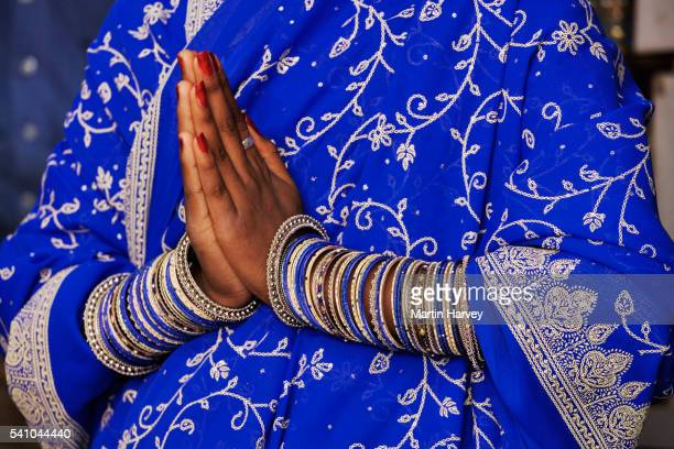 Indian Woman Wearing Multiple Bangles