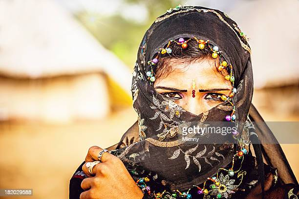 Indian Woman with Headscarf Portrait