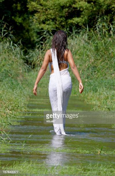 Wet Sari Stock Photos And Pictures  Getty Images-7183