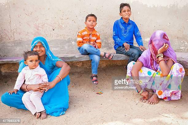 Indian Women and Children in Salapura Village, Rajasthan, India