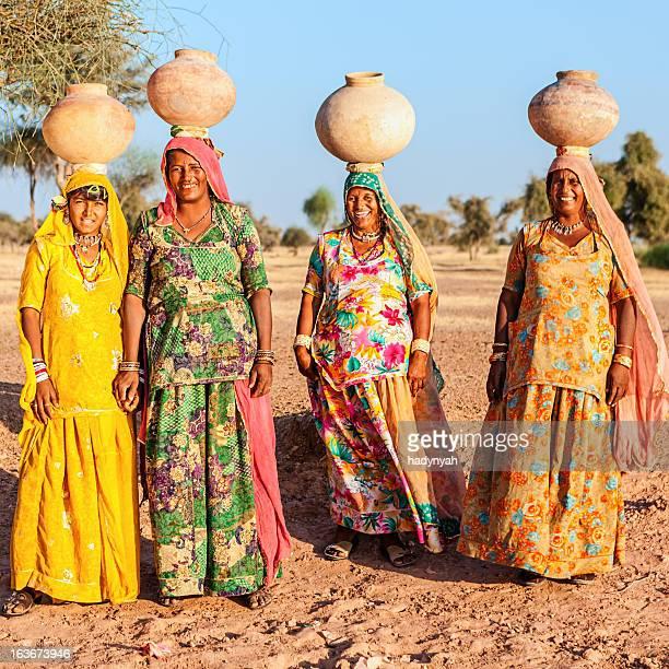 Indian women carrying water, Rajasthan