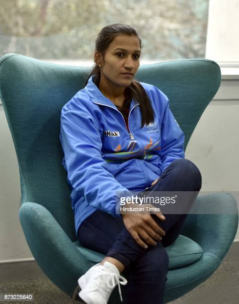Indian Women Hockey Captain Rani Rampal during an exclusive interview with Hindustan Times after winning the final of the Women's Asia Cup Hockey...