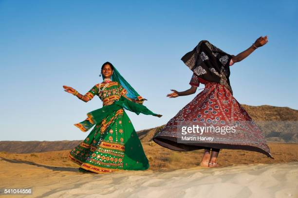 Indian Women Performing Traditional Dance