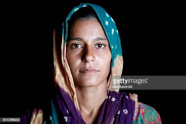 Portrait de femme indienne