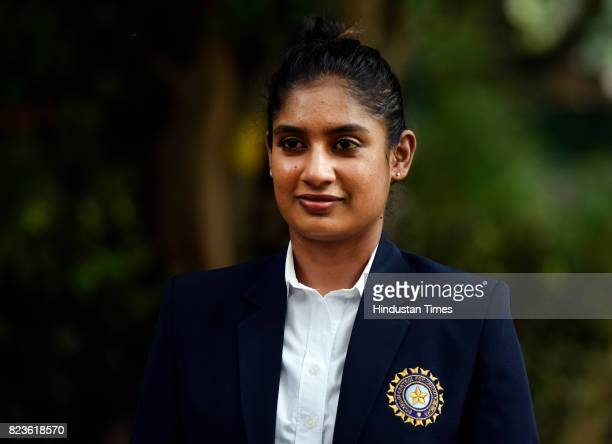 Indian Womens Cricket Team Captain Mithali Raj During The Felicitating Event On July 27 2017 In