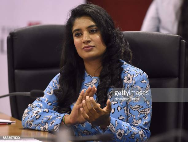 Indian Women's Cricket Team Captain Mithali Raj during the FICCI Ladies Organisation interactive session titled Breaking Boundaries at FICCI Tansen...