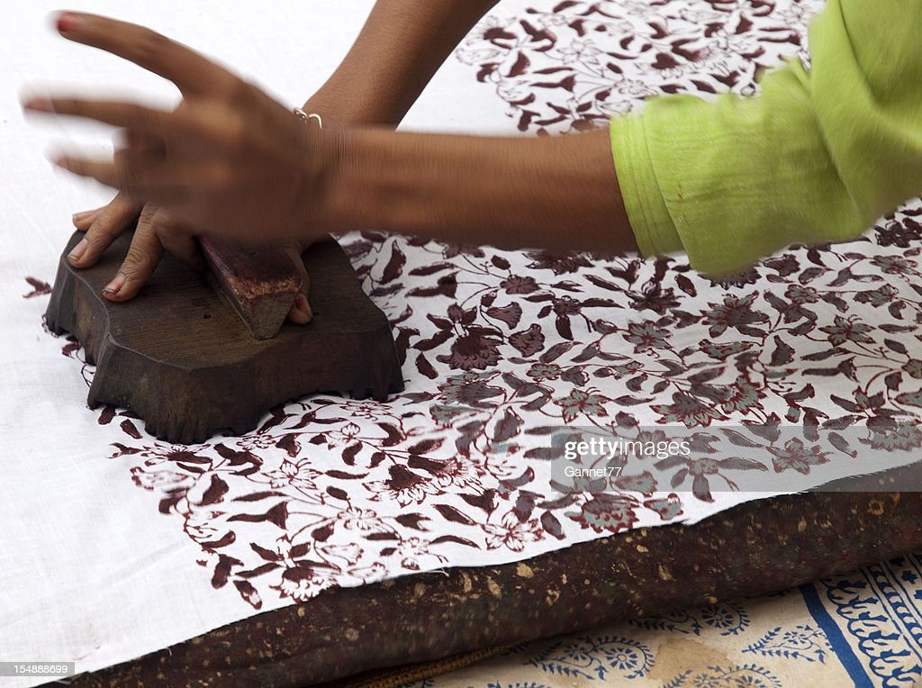 Indian Woodblock Printing Stock Photo - Getty Images