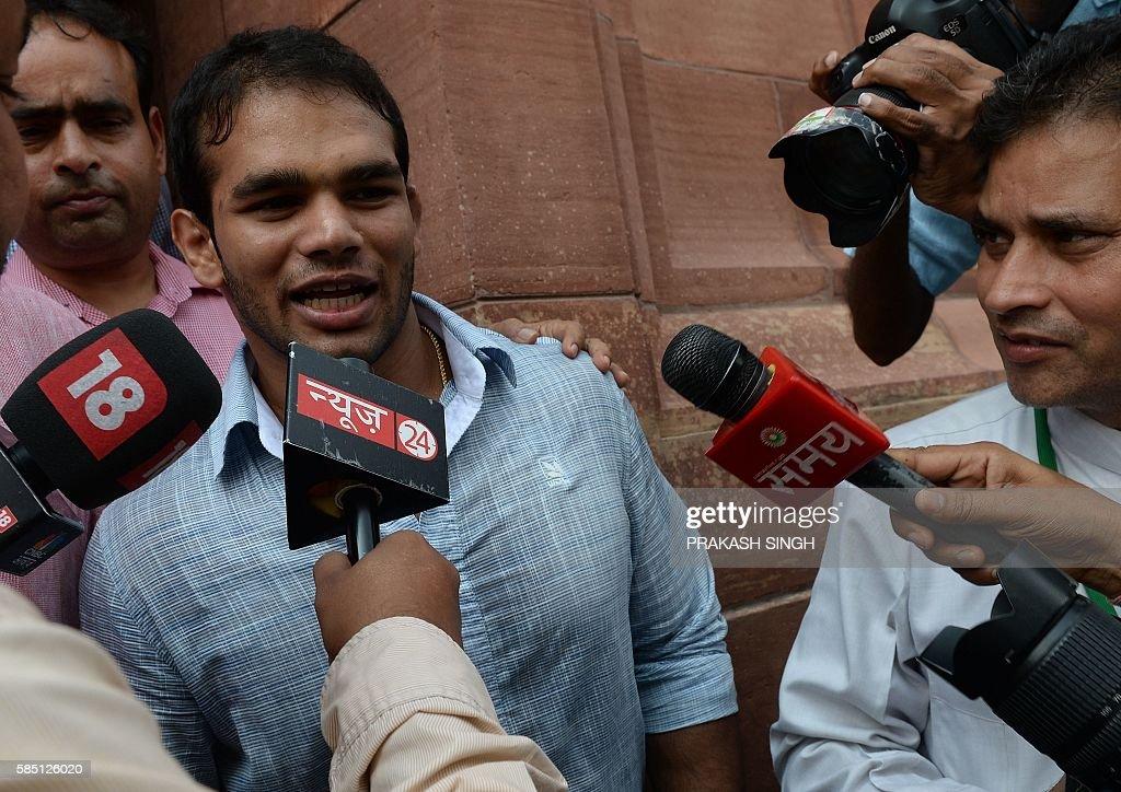 INDIA-POLITICS-PARLIAMENT : News Photo