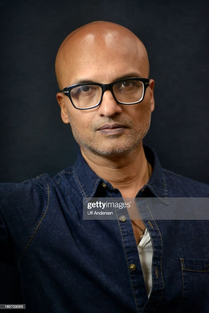 Indian writer Jeet Thayil poses during a portrait session held on October 18, 2013 in Paris, France.