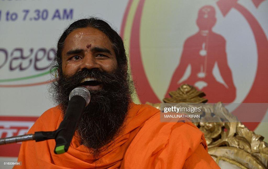 Indian Yoga guru Baba Ramdev addresses a press conference in    News