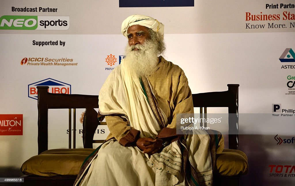 Sadhguru Jaggi Vasudev Of The Isha Foundation Tees Off For Isha Vidhya : News Photo