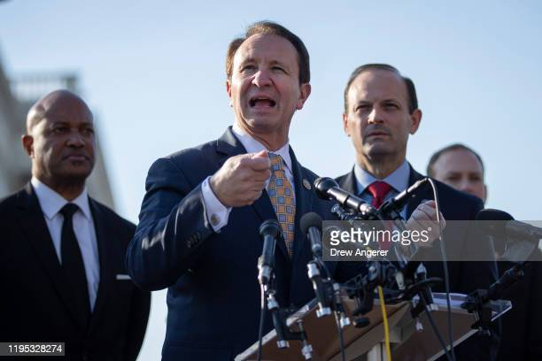Indiana Attorney General Curtis Hill, Louisiana Attorney General Jeff Landry and South Carolina Attorney General Alan Wilson speak during a press...