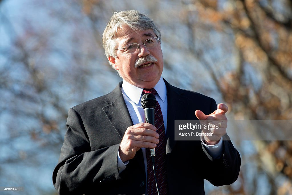 Indiana Attorney General Greg Zoeller speaks to a gathering at Karst Farm Park on March 31, 2015 in Bloomington, Indiana. Responding to widespread criticism nationally over the state's new controversial Religious Freedom Restoration Act, which critics say can be used to discriminate against gays and lesbians, Indiana Gov. Mike Pence today called on the Republican-controlled general assembly to 'fix' the law, making clear that businesses cannont use the law to deny services to same-sex couples, according published reports.