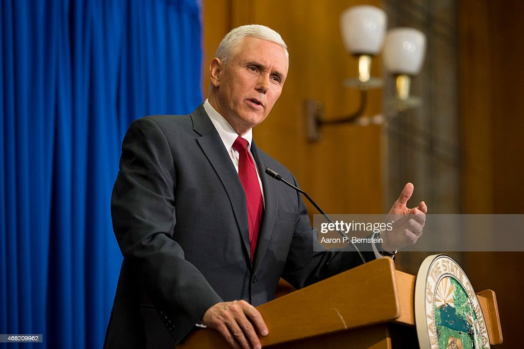 Indiana Gov. Mike Pence Holds Press Conference