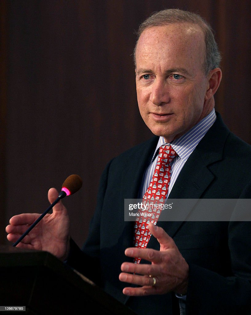 Mitch Daniels Speaks At American Enterprise Institute