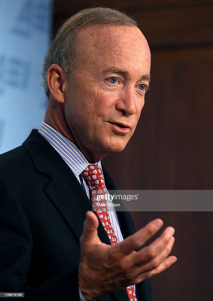 Mitch Daniels Speaks At American Enterprise Institute : News Photo