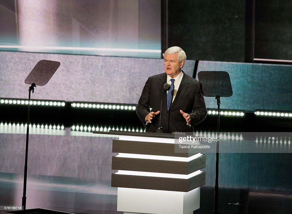 Indiana Governor Mike Pence speaks on the third day of the Republican National Convention on July 20, 2016 at the Quicken Loans Arena in Cleveland, Ohio. An estimated 50,000 people are expected in Cleveland, including hundreds of prostesters and members of the media.