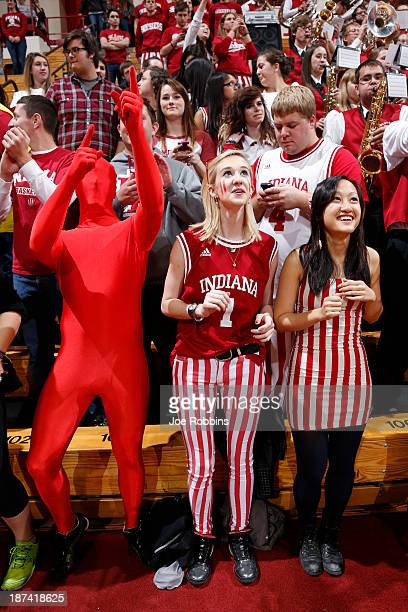 Indiana Hoosiers fans look on against the Chicago State Cougars during the game at Assembly Hall on November 8 2013 in Bloomington Indiana Indiana...