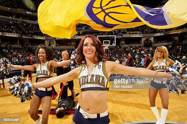 Indiana Pacers dancers perform before a game against the Chicago Bulls on March 3 2013 at Bankers Life Fieldhouse in Indianapolis Indiana NOTE TO...