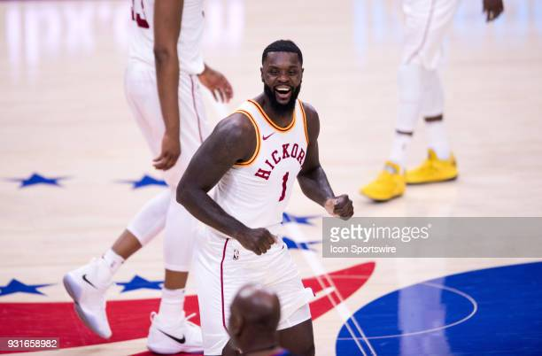 Indiana Pacers Guard Lance Stephenson laughs to a referee after being called for an offensive foul in the second half during the game between the...