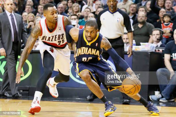 Indiana Pacers point guard CJ Watson drives past Portland Trail Blazers point guard Mo Williams during the Portland Trail Blazers 106102 victory over...