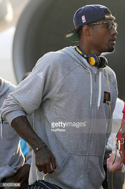 Indiana Pacers small forward Paul George arrives at the Ninoy Aquino International Airport in Manila Philippines October 7 2013 The Indiana Pacers...