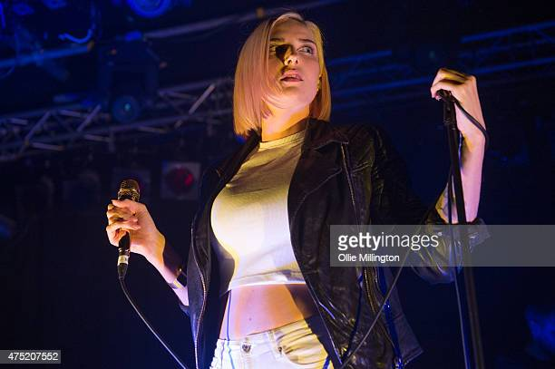 Indiana performs onstage at Rock City on May 29 2015 in Nottingham United Kingdom