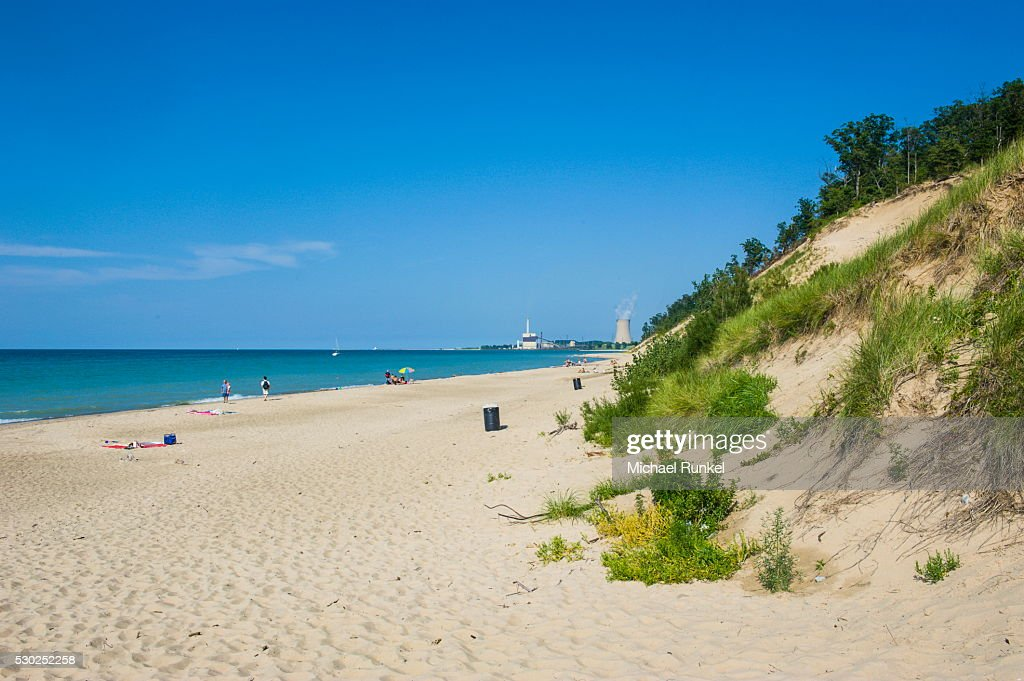 Indiana sand dunes, Indiana, United States of America, North America : Stock Photo