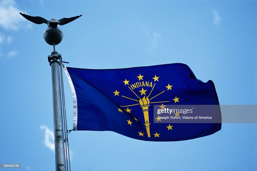 Indiana State Flag : Stock Photo