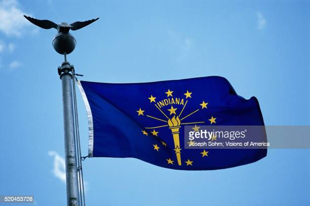 indiana state flag - indiana stock pictures, royalty-free photos & images