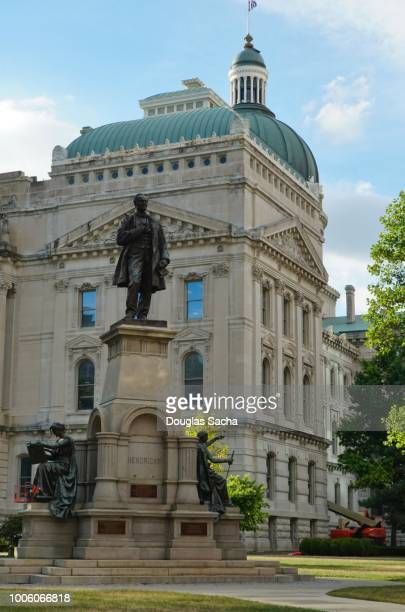 indiana statehouse, indianapolis, indiana, usa - indianapolis stock pictures, royalty-free photos & images