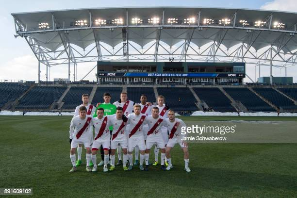 Indiana University is introduced prior to the Division I Men's Soccer Championship held at Talen Energy Stadium on December 10 2017 in Philadelphia...
