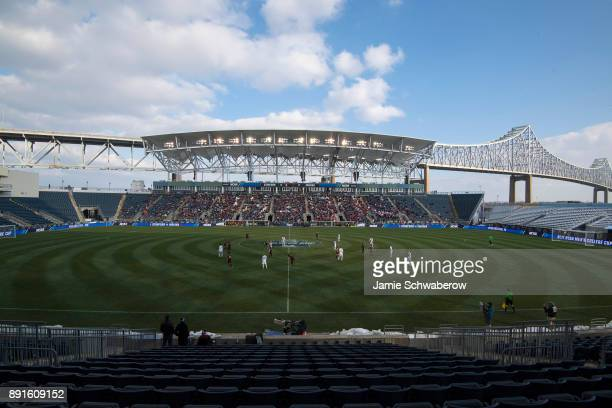 Indiana University takes on Stanford University during the Division I Men's Soccer Championship held at Talen Energy Stadium on December 10 2017 in...