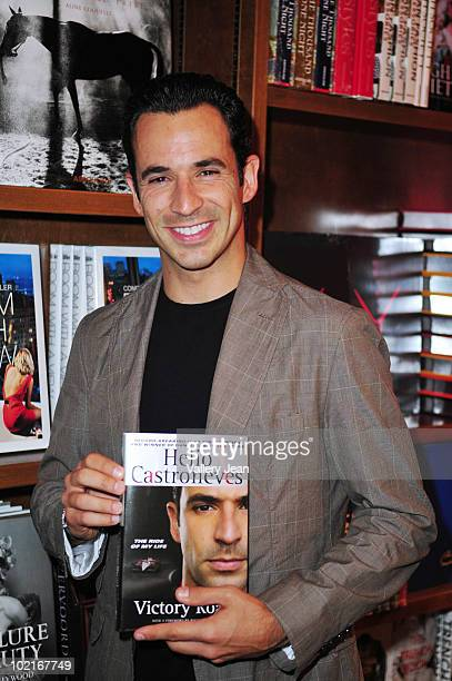 """Indianapolis 500 champion and fifth season winner of Dancing With the Stars Helio Castroneves signs and discusses his book """"Victory Road"""" at Books..."""