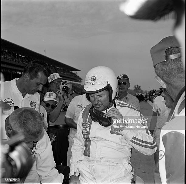 Indianapolis 500 Roger Ward in his Watson 64 Ford roadster was second both on the starting grid and in the finishing order